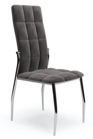 Krzesło K416 velvet - popielaty