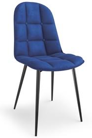 Krzesło K417 velvet - granatowy