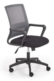 Fotel pracowniczny MAURO - czarny/ popiel