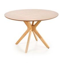 Stół okrągły NICOLAS 120 cm - dąb naturalny
