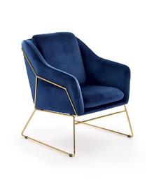 Fotel SOFT 3 - granatowy/złoty