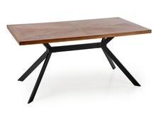 Stół TYSON 160x90 - orzech/czarny