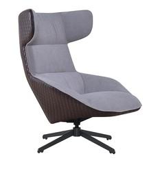 Fotel VITA - szary/brązowy
