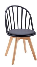 Krzesło ALBERT - czarny/drewno bukowe