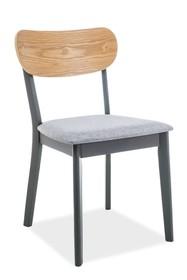 Krzesło VITRO - dąb/grafitowy