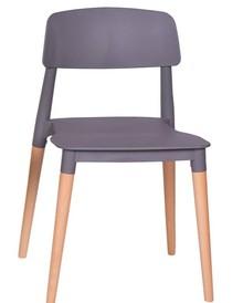 Krzesło ECCO PREMIUM szare - polipropylen, buk