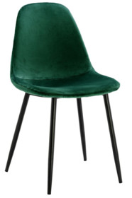 MODESTO krzesło LUCY zielone - welur, metal