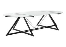 Stół konferencyjny DD Z-LINE COMPUTER DESK - czarny/szkło białe