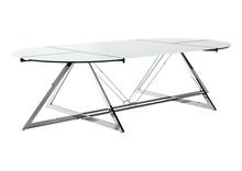 Stół konferencyjny Z-LINE MAIN DESK - chrom/szkło białe