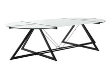 Stół konferencyjny DD Z-LINE XXL - czarny/szkło białe
