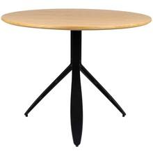 Stół okrągły FELIX 100 - dąb/czarny