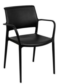 MODESTO krzesło PETRA czarne - polipropylen