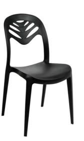 Krzesło z tworzywa MONSTERA - czarny mat