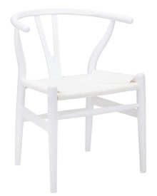 Krzesło WISHBONE - biały/włókno białe