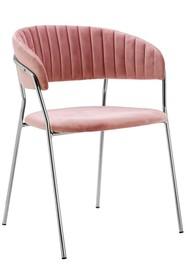 Krzesło MARGO SILVER - brudny róż