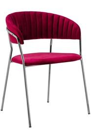 Krzesło MARGO SILVER - burgund