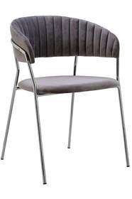 Krzesło MARGO SILVER - ciemny szary
