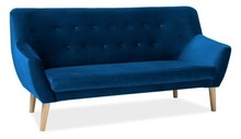 Sofa NORDIC 3 VELVET - granatowy Bluvel 86