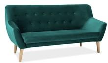 Sofa NORDIC 3 VELVET - zielony Bluvel 78