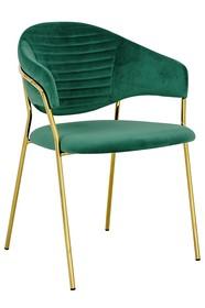 Krzesło NAOMI - zielony/złoty