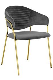Krzesło NAOMI - ciemny szary/złoty