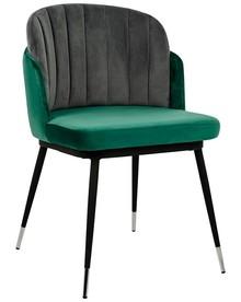 Krzesło MARCEL - ciemnoszary/zielony