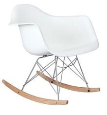 Fotel bujany VILD RAR - biały