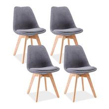 Zestaw 4x krzesło DIOR - ciemny szary/dąb