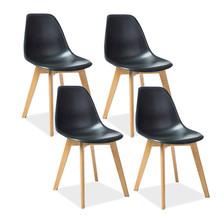Zestaw 4x krzesło MORIS - czarny