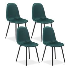 Zestaw 4x krzesło FOX velvet - zielony