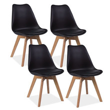 Zestaw 4x krzesło KRIS - czarny/dąb