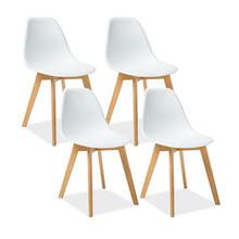 Zestaw 4x krzesło MORIS - biały