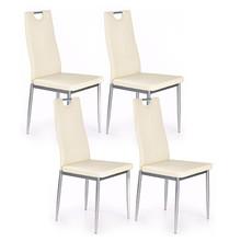 Zestaw 4x krzesło K202 - kremowy