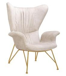 Fotel SHRIMP ALCANTARA - beżowy