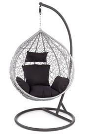 Fotel ogrodowy wiszący EGGY - popielaty/czarny