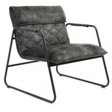 Fotel MUSTANG szarozielony - aksamit, metal