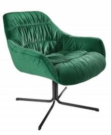 Fotel BIG DUTCH zielony - aksamit, metal