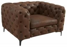 Fotel MODERN BAROCK brązowy - tkanina, metal