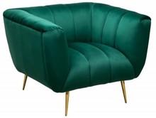 Fotel NOBLESSE zielony - aksamit, metal