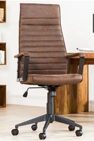 Fotel biurowy LAZIO HIGH brąz