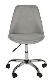 Fotel biurowy SCANDINAVIA  jasnoszary - chrom