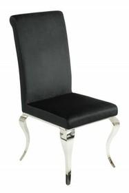 Krzesło MODERN BAROCK 106 czarne - aksamit, stal nierdzewna