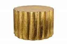 Stolik kawowy LIQUID LINE 60 złoty - metal