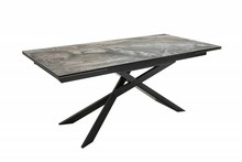 Stół EUPHORIA 180-220-260 marmur - szkło, metal