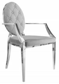 Krzesło MODERN BAROCK szare - aksamit, stal nierdzewna