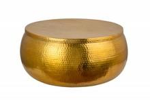 Stolik kawowy ORIENT STORAGE  - 70cm, złoty, metal, aluminium