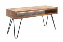 Stolik kawowy SCORPION 100 cm - sheesham, drewno, żelazo