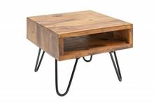 Stolik SCORPION 45 cm sheesham - lite drewno, metal