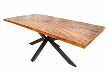 Stół WOOD ART 200 mango - lite drewno, metal