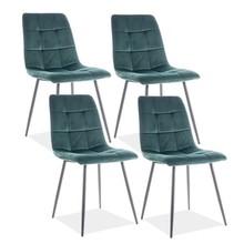 Zestaw 4x krzesło MILA VELVET - zielony Bluvel 78